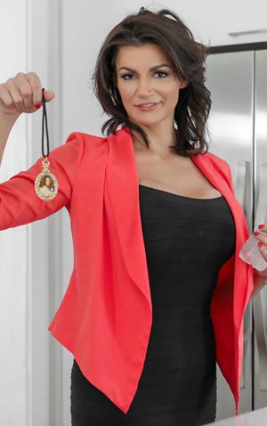 Becky Bandini pornstar model on teamskeet